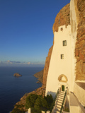 Hozoviotissa Monastery and Aegean Sea, Amorgos, Cyclades, Greek Islands, Greece, Europe Photographic Print by  Tuul