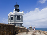 El Morro Lighthouse on Castillo San Felipe del Morro, Old City of San Juan, Puerto Rico Island, USA Photographic Print by Richard Cummins
