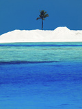Sandbank and Palm Tree on Tropical Beach, Maldives, Indian Ocean, Asia Photographic Print by Sakis Papadopoulos
