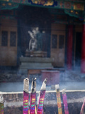 Incense Burning, Yuantong Temple, Kunming, Yunnan, China, Asia Photographic Print by Lynn Gail