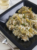 Artichokes Risotto, Italy, Europe Photographic Print by Nico Tondini