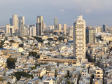 Elevated City View Towards the Commercial and Business Centre, Tel Aviv, Israel, Middle East Photographic Print by Gavin Hellier
