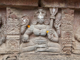 Carving on Wall of Parasurameswar Hindu Temple Dedicated to Lord Shiva, Bhubaneshwar, India Photographie par Annie Owen