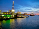 The Shard and River Thames from City of London, London, England, United Kingdom, Europe Photographic Print by Frank Fell
