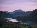 Looking Down the Gwynant Valley over Llyn Gwynant at Dusk, Wales, United Kingdom, Europe Photographic Print by Ian Egner