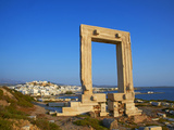 Gateway, Temple of Apollo, Archaeological Site, Naxos, Cyclades, Greek Islands, Greece, Europe Photographic Print by  Tuul