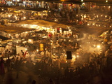 Food Market in DJemaa el Fna, Marrakech, Morocco, North Africa, Africa Photographic Print by Ian Egner
