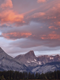 Red Clouds at Sunrise at Upper Kananaskis Lake, Peter Lougheed Provincial Park, Alberta, Canada Photographic Print by James Hager