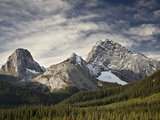 Alpine Scene in Fall with Smutts Creek, Peter Lougheed Provincial Park, Alberta, Canada Photographic Print by James Hager