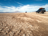 Four Wheel Drive Vehicles in Desert, Southwestern Bolivia, Bolivia Photographic Print by Phil Clarke-Hill