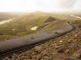 Snowdon Mountain Railway Near the Peak of Snowdon, Looking Towards Llanberis, Gwynedd, Wales, UK Photographic Print by Ian Egner