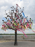Wish Tree, Kiev, Ukraine, Europe Photographic Print by Graham Lawrence