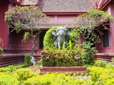 Elephant Statue Outside the National Museum of Cambodia, Phnom Penh, Cambodia, Indochina Photographic Print by Matthew Williams-Ellis