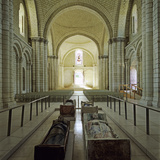 Nave of Abbey Church with Effigies of Plantagenet Monarchs, Fontevraud Abbey, Loire Valley, France Photographic Print by Stuart Black