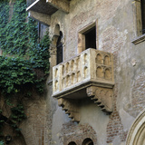 Juliet's Balcony, Verona, UNESCO World Heritage Site, Veneto, Italy, Europe Photographic Print by Stuart Black
