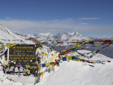 Thorong La (Thorung La), Pass at 5416m, Annapurna Conservation Area, Gandaki, Pashchimanchal, Nepal Fotografisk tryk af Jochen Schlenker
