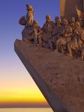 Monument to the Discoveries at Dusk, Belem, Lisbon, Portugal, Europe Photographic Print by Stuart Black