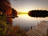 Lake Millinocket at Sunrise, Baxter State Park, Maine, New England, USA, North America Photographic Print by Alan Copson