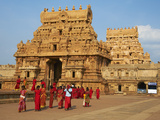 Bridhadishwara Temple, UNESCO World Heritage Site, Thanjavur (Tanjore), Tamil Nadu, India, Asia Photographic Print by  Tuul