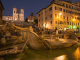 Spanish Steps and Trinita Dei Monti Church, Rome, Lazio, Italy, Europe Photographie par Angelo Cavalli