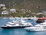 Yachts in Charlotte Amalie Harbor, St. Thomas Island, U.S. Virgin Iislands, West Indies, Caribbean Photographic Print by Richard Cummins