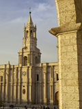 Partial Arch Overlooking Arequipa Cathedral, Peru, Latin America, South America Photographic Print by Simon Montgomery