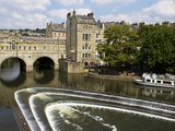 Pulteney Bridge and River Avon, Bath, UNESCO World Heritage Site, Avon, England, UK, Europe Photographic Print by Jeremy Lightfoot