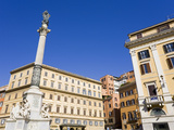 Monument in Piazza di Spagna, Rome, Lazio, Italy, Europe Photographic Print by Richard Cummins