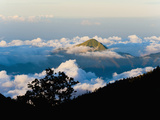 Mountain Peaks Rising High Above the Clouds Taken from Mount Rinjani Volcano, Lombok, Indonesia Photographic Print by Matthew Williams-Ellis