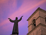 Statue of Saint Francis in Front of Iglesia de San Francisco at Twilight, Arequipa, Peru Photographic Print by Simon Montgomery