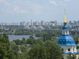 View of Vydubychi Monastery, Looking over Dnipro River, Kiev, Ukraine Photographic Print by Graham Lawrence