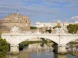 Vittorio Emanuelle Bridge and St. Angelo Castle and National Museum, Rome, Lazio, Italy, Europe Photographic Print by Richard Cummins