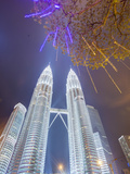 Low Angle View of the Petronas Twin Towers, Kuala Lumpur, Malaysia, Southeast Asia, Asia Photographic Print by Gavin Hellier