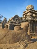 Five Ratha, Mamallapuram (Mahabalipuram), UNESCO World Heritage Site, Tamil Nadu, India, Asia Photographic Print by  Tuul