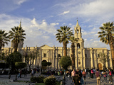Plaza de Armas, Arequipa Cathedral in Background, Arequipa , Peru, South America Photographic Print by Simon Montgomery