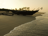 Sunrise over Traditional Fishing Boat and Beach, Benaulim, Goa, India, Asia Photographic Print by Stuart Black