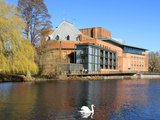 Royal Shakespeare Company Theatre and River Avon, Stratford-Upon-Avon, Warwickshire, England, UK Photographic Print by Rolf Richardson