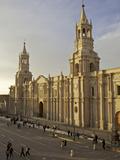 View of Arequipa Cathedral, Plaza de Armas, Arequipa, Peru, Peruviann, Latin America, South America Photographic Print by Simon Montgomery