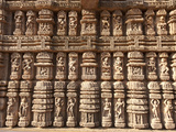 Ornate Erotic Carvings on 13th Century Konarak Sun Temple, UNESCO World Heritage Site, India Photographic Print by Annie Owen