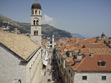 View of Stradun, Main Street Inside Walled City of Dubrovnik, UNESCO World Heritage Site, Croatia Photographic Print by Matthew Frost
