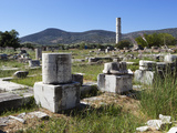 Ireon Archaeological Site with Columns of the Temple of Hera, Ireon, Samos, Aegean Islands, Greece Photographic Print by Stuart Black