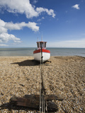 Boat on the Beach, Dungeness, Kent, England, United Kingdom, Europe Photographic Print by Jean Brooks