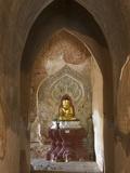 Seated Buddha, Sulamani Pahto, Bagan (Pagan), Myanmar (Burma), Asia Photographic Print by Richard Maschmeyer