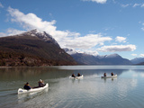 Canoeing at Tierra del Fuego National Park, Near Ushuaia, Argentina, South America Photographic Print by Ethel Davies