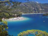 Oludeniz Beach, Fethiye, Anatolia, Turkey, Asia Minor, Eurasia Photographic Print by Sakis Papadopoulos