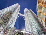 Low Angle View of the Petronas Twin Towers, Kuala Lumpur, Malaysia, Southeast Asia, Asia Photographic Print by Gavin Hellier