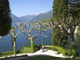 Gardens of Villa del Balbianello on Punta di Lavedo, Lenno, Lake Como, Italian Lakes, Italy Photographic Print by Peter Barritt