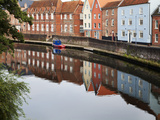 Quayside Buildings Reflected in the River Wensum, Norwich, Norfolk, England, United Kingdom, Europe Photographic Print by Mark Sunderland