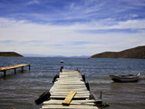 Jetty at Challapampa, Isla del Sol, Lake Titicaca, Bolivia, South America Photographic Print by Simon Montgomery