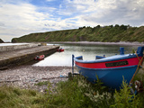 Fishing Boats at the Pier, Catterline, Aberdeenshire, Scotland, United Kingdom, Europe Photographic Print by Mark Sunderland